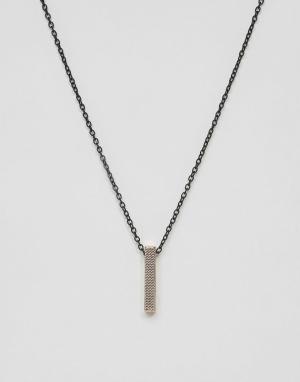 Icon Brand Медное ожерелье с подвеской. Цвет: золотой