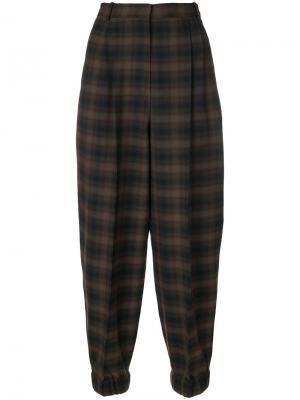 Клетчатые брюки свободного кроя Antonio Marras. Цвет: зелёный