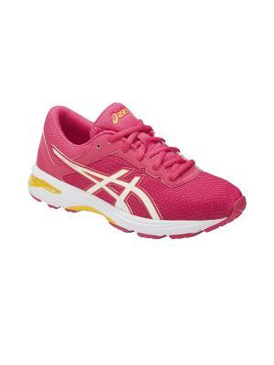 Кроссовки  GT-1000 6 GS ASICS. Цвет: розовый, белый, желтый
