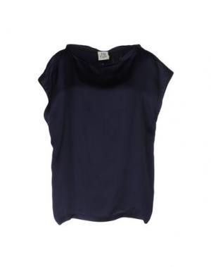 Блузка ATTIC AND BARN. Цвет: темно-синий