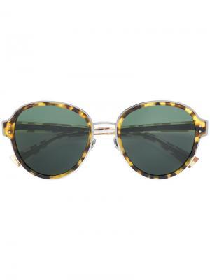 Солнцезащитные очки с эффектом черепашьего панциря Dior Eyewear. Цвет: жёлтый и оранжевый