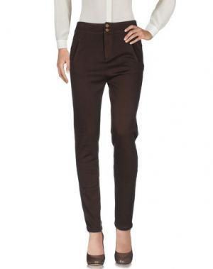 Повседневные брюки TANDEM. Цвет: темно-коричневый