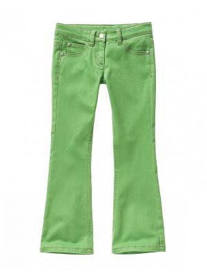 Брюки United Colors of Benetton. Цвет: светло-зеленый, темно-зеленый
