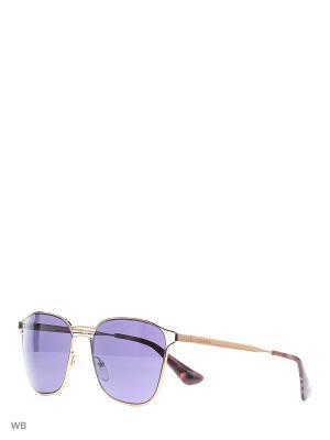 Очки солнцезащитные PRADA. Цвет: фиолетовый, золотистый