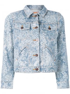 Джинсовая куртка с отделкой из кристаллов Marc Jacobs. Цвет: синий