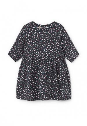 Платье Mango Kids. Цвет: черный