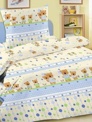 Комплект в кроватку Letto Ясли BGR-15, простыня на резинке, бязь. Цвет: голубой