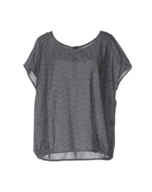 Блузка LOCAL APPAREL. Цвет: серый