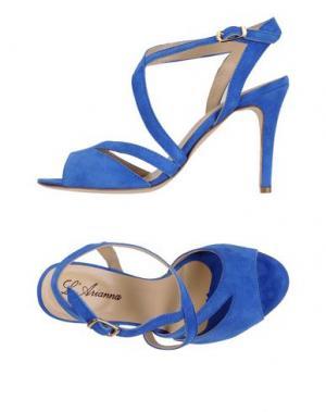 Сандалии L'ARIANNA. Цвет: синий