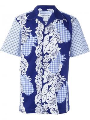 Рубашка с принтом Comme Des Garçons Shirt. Цвет: синий