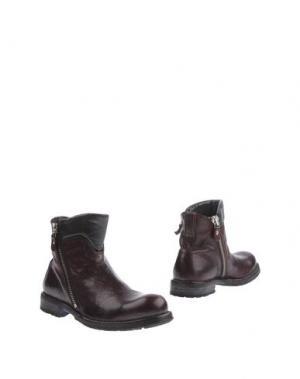 Полусапоги и высокие ботинки MOMA. Цвет: баклажанный