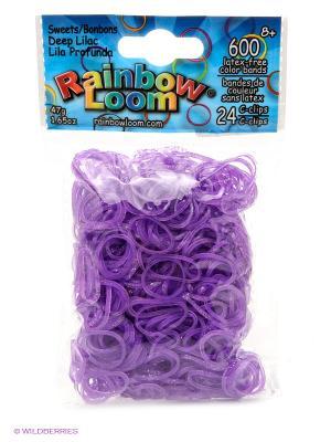 Резинки Тёмно-лиловый, коллекция Леденцы RAINBOWLOOM. Цвет: лиловый