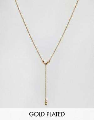 Gorjana Позолоченное ожерелье. Цвет: золотой