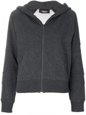 Куртка на молнии Jo No Fui. Цвет: серый