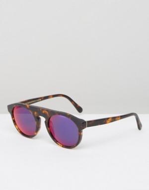 Retrosuperfuture Солнцезащитные очки Racer. Цвет: коричневый