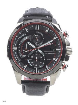 Часы EDIFICE EQS-600BL-1A CASIO. Цвет: черный