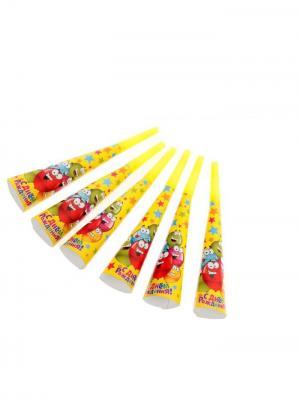 Набор дудок-гудков А М Дизайн. Цвет: красный, желтый