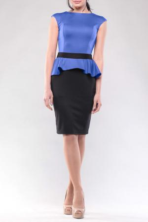 Платье REBECCA TATTI. Цвет: электрик, черный