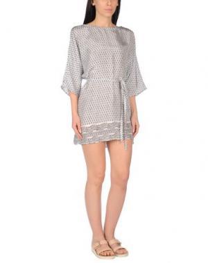 Пляжное платье DELFINA. Цвет: темно-синий
