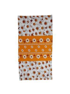 Полотенце банное 80х150 Римейн. Цвет: оранжевый,белый