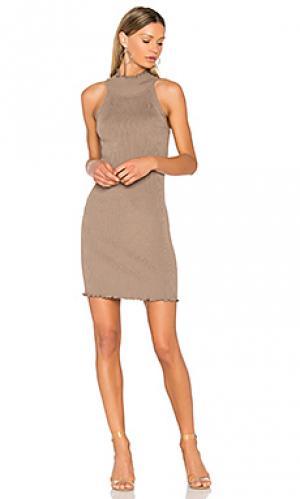 Вязаное платье с ложным воротом 525 america. Цвет: nude