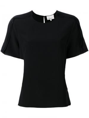 Блузка с рюшами 3.1 Phillip Lim. Цвет: чёрный