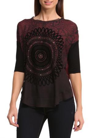 Блуза Desigual. Цвет: burgundy, black