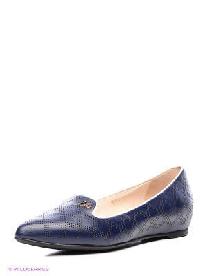 Балетки Moda Donna. Цвет: синий
