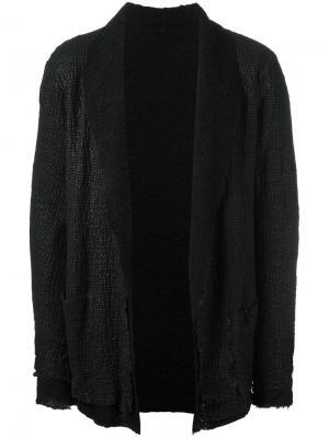 Куртка с лацканами-шалька Salvatore Santoro. Цвет: чёрный