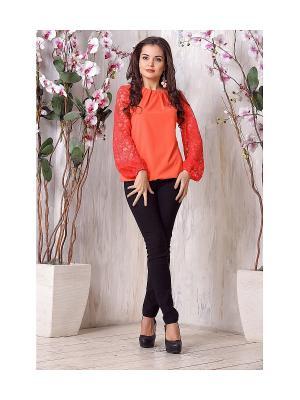 Блуза LIORA. Цвет: оранжевый