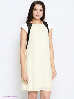 Платье Sinequanone. Цвет: желтый, черный