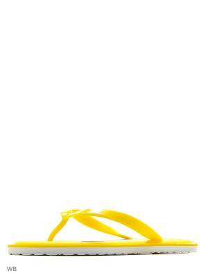 Шлепанцы LAMALIBOO. Цвет: желтый