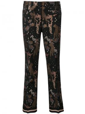 Укороченные брюки с принтом Cambio. Цвет: чёрный