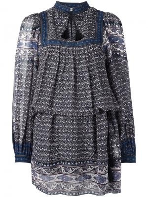 Платье с узором пейсли Ulla Johnson. Цвет: многоцветный