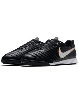 Бутсы TIEMPOX LIGERA IV IC Nike. Цвет: черный, белый