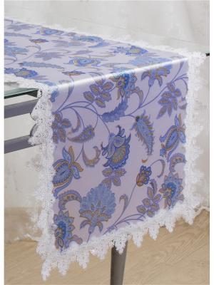 Дорожка столовая Naturel. Цвет: белый, голубой