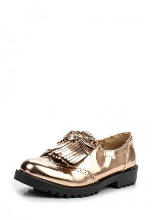 Лоферы Ideal Shoes. Цвет: золотой
