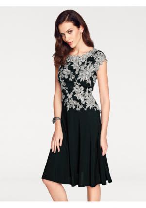 Платье ASHLEY BROOKE by Heine. Цвет: черный/кремовый