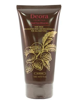 Маска грязевая для всех типов волос с маслом макадамии, 150 мл. Deora Cosmetics. Цвет: бежевый