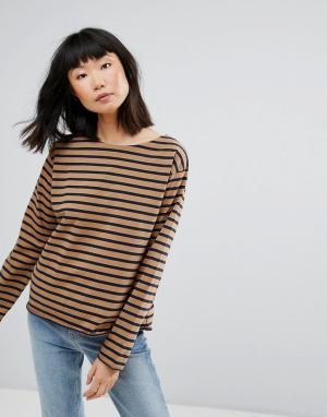 MiH Jeans Свитшот в полоску M.i.h Simple Mariniere. Цвет: коричневый