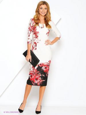 Платье Xarizmas. Цвет: черный, красный, белый