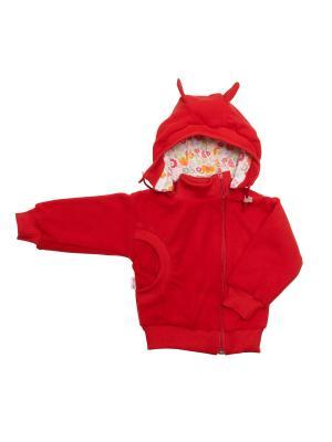 Куртка-косушка с капюшоном флис МИКИТА. Цвет: красный