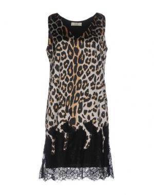 Короткое платье ELLA LUNA. Цвет: светло-серый
