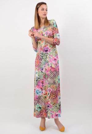 Платье Lino Russo. Цвет: разноцветный