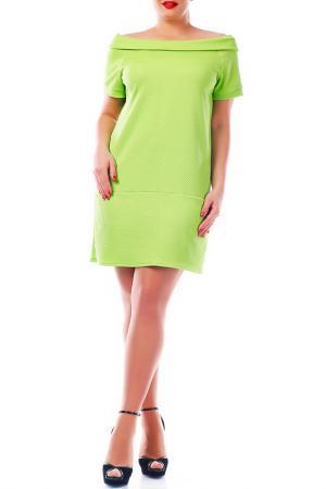 Платье ALPAMA. Цвет: лайм