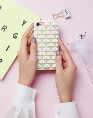SIGNATURE Чехол для Iphone 7 с принтом пчелы. Цвет: золотой