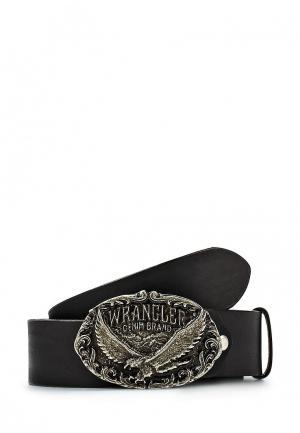 Ремень Wrangler. Цвет: черный