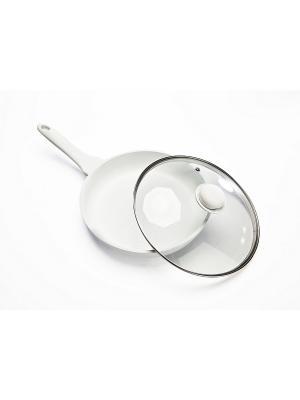 Сковорода с керамическим покрытием ГУРМАН BRADEX. Цвет: белый