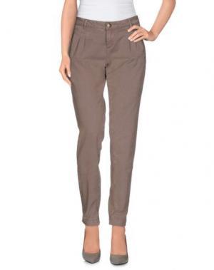 Повседневные брюки D-21. Цвет: голубиный серый