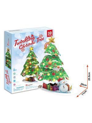Игрушка Новогодняя елка с подсветкой CubicFun. Цвет: голубой, зеленый